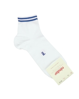 CONDOR Boys' Ankle Sport Socks with Blue Stripes