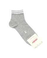 CONDOR Boys' Ankle Sport Socks with Stripes in Grey