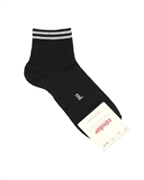CONDOR Boys' Ankle Sport Socks with Stripes in Black