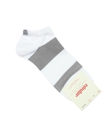 CONDOR Boys' Athletic Striped Trainer Socks White/Grey