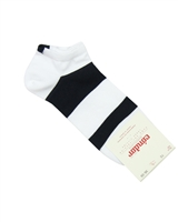 CONDOR Boys' Athletic Striped Trainer Socks White/Black