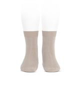 CONDOR Girls' Basic Short Socks in Beige