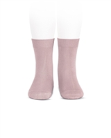 CONDOR Girls' Basic Short Socks in Dusty Pink