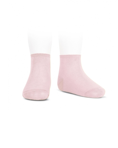 CONDOR Girls' Basic Ankle Socks in Light Pink