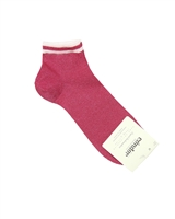 CONDOR Girls' Shiny Ankle Socks in Red