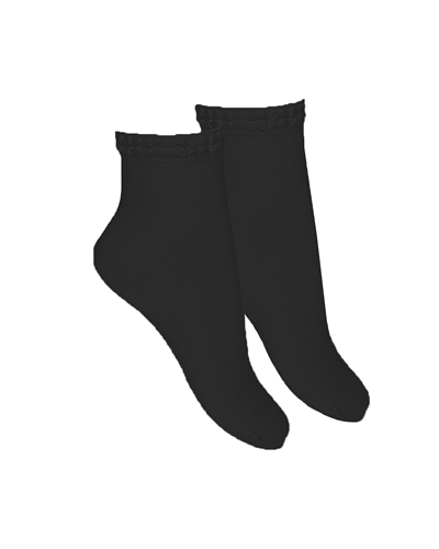 CONDOR Girls' Condorel.la Short Socks in Black