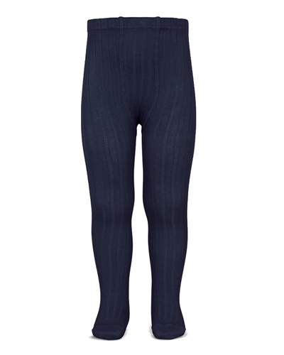 CONDOR Girls' Basic Rib Tights in Navy