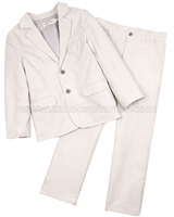 Deux par Deux Boys' Jacket and Pants Set Beige Aristo Kids
