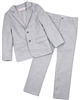 Deux par Deux Boys' Jacket and Pants Set Light Gray Aristo Kids