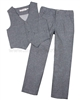 Deux par Deux Boys' Vest and Pants Set Dark Gray Aristo Kids