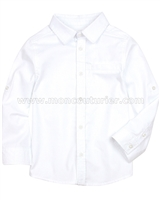 Deux par Deux Boys' Basic Dress Shirt White Aristo Kids