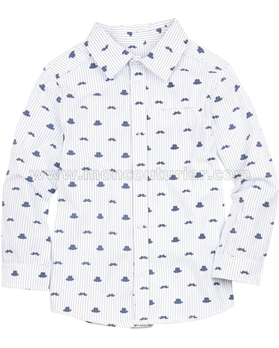 Deux par Deux Boys Printed Dress Shirt Aristo Kids