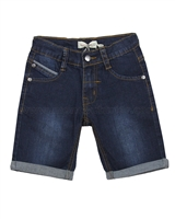 Deux par Deux Boys' Denim Bermuda Shorts Dark Blue Roadrunner