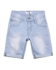 Deux par Deux Boys' Denim Bermuda Shorts Light Blue Roadrunner