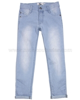 Deux par Deux Boys' Denim Pants Light Blue Wild Side Story