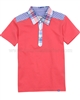 Deux par Deux Boys' Polo Red Crab Me Up