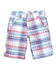 Deux par Deux Boys' Plaid Bermuda Shorts Crab Me Up