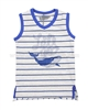 Deux par Deux Boys' Sleeveless Striped T-shirtCrab Me Up