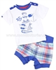 Deux par Deux Boys' T-shirt and Shorts Set Crab Me Up