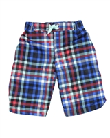 Deux par Deux Boys Plaid Surfer Shorts