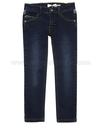Deux par Deux Dark Blue Denim Chino Pants Play It Like Crockett