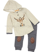 Deux par Deux Hooded T-shirt and Pants Set  Play it Like Crockett