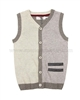 Deux par Deux Knit Vest with Buttons Maestro!