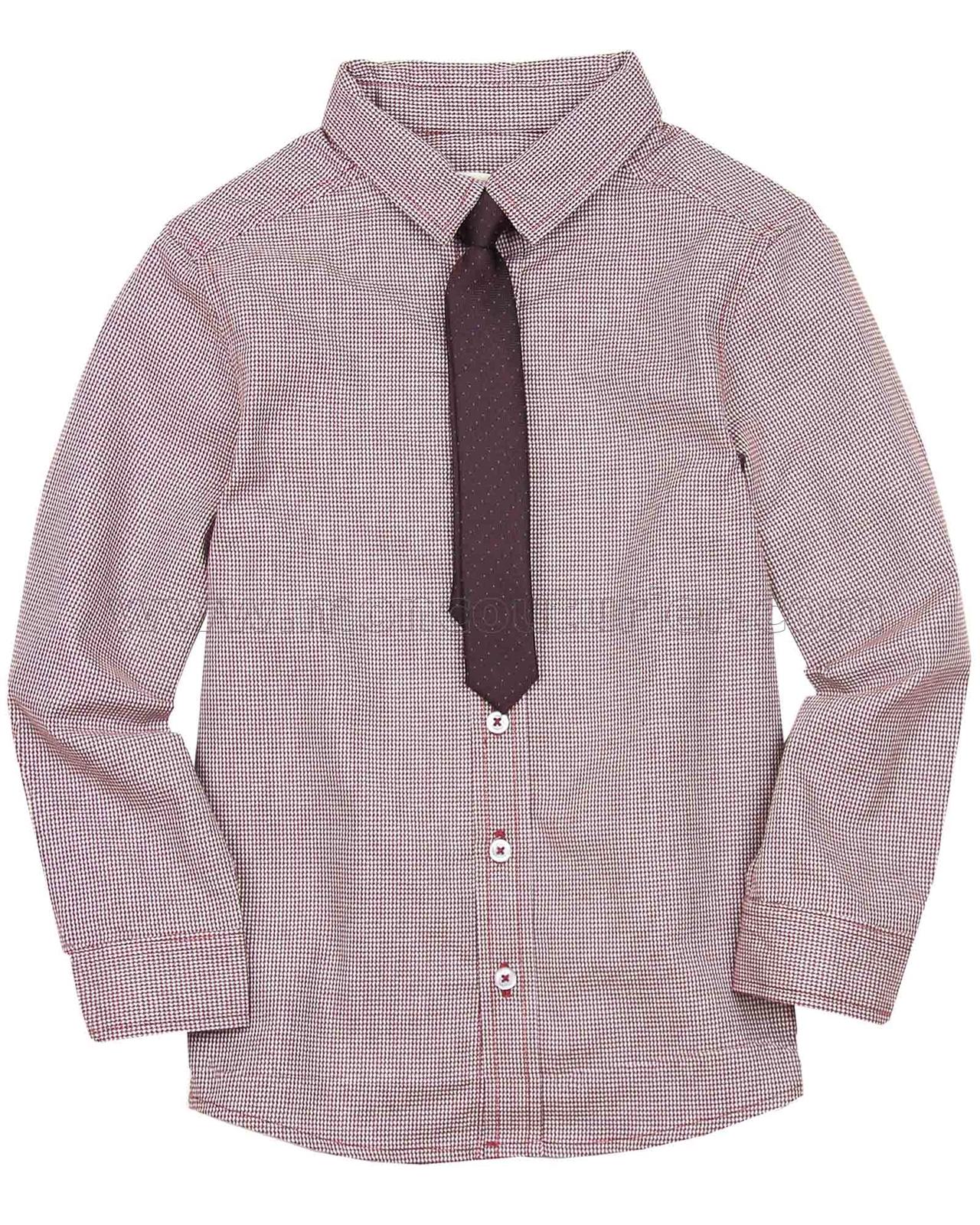 69742ae31 Deux par Deux Burgundy Shirt with Tie Maestro!
