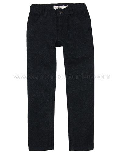 Sizes 5-12 Deux par Deux Boys Terry Pants in Gray Boombox