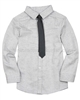 Deux par Deux Gray Shirt with Tie Maestro!