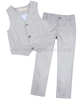 Deux par Deux Gray Vest and Pants Cool Class
