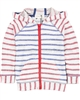 Deux par Deux Striped Hoodie Le Grand Bleu