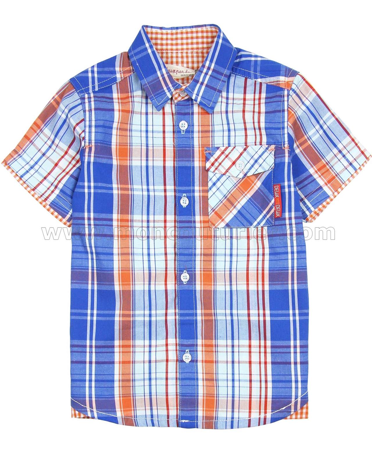 Deux par Deux Boys Printed Shirt Le Grand Bleu Sizes 18M-6