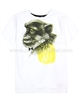 Deux par Deux White T-shirt with Print Monkey See Monkey Do