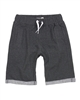 Deux par Deux Dark Gray Jogging Shorts Monkey See Monkey Do