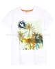 Deux par Deux White T-shirt with Print Surf Away