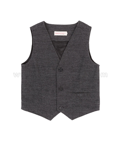 Deux par Deux Charcoal Vest Suit up