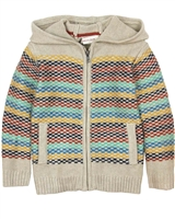 Deux par Deux Beige Knit Cardigan Whistle Punk