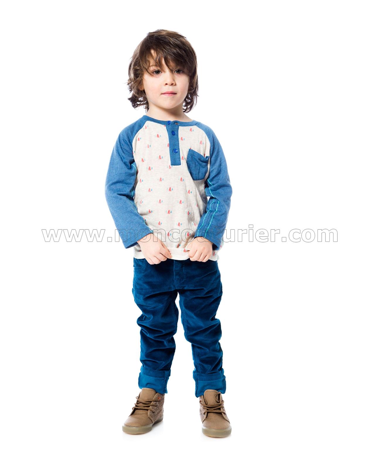 Deux par Deux Boys Blue Corduroy Pants Whistle Punk Sizes 18M-6M