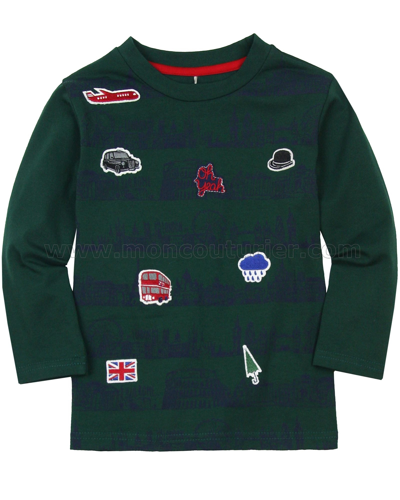 Sizes 18M-6 Yeah! Deux par Deux Boys Sweater Oh
