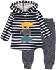 Deux par Deux Baby Navy Boys' Two-piece Hey, Buffalo Hill