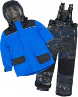 Deux par Deux Boys' 2-Piece Snowsuit Hey Mr Dj Blue