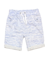Deux par Deux Light Blue Terry Shorts I Believe I Can Fly