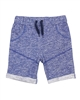 Deux par Deux Dark Blue Terry Shorts I Believe I Can Fly