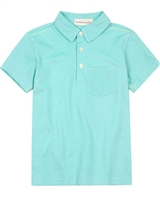Deux par Deux Polo in Aqua Woody Buddy
