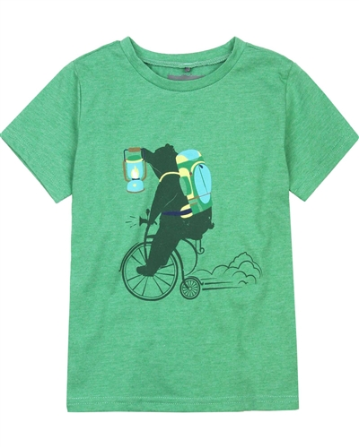 Deux par Deux T-shirt with Print in Green Woody Buddy