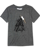 Deux par Deux T-shirt with Print in Dark Gray Woody Buddy