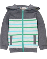 Deux par Deux Hooded Cardigan Woody Buddy
