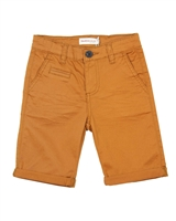 Deux par Deux Twill Shorts in Brown Woody Buddy