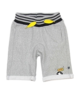 Deux par Deux Terry Shorts in Gray Boombox
